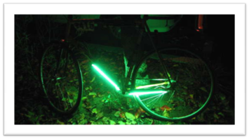 amazing neon glow from bike on instructibles