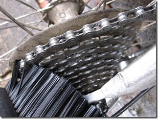 Clean the sprockets using a brush