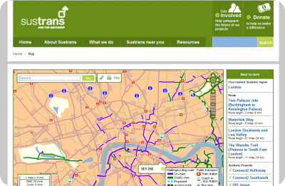 sustrans national cycle route network