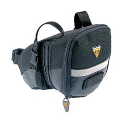 Black design Topeak Aero Buckle saddle bag