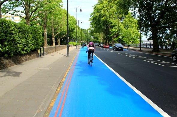 Cycle Superhighway 8 the big blue
