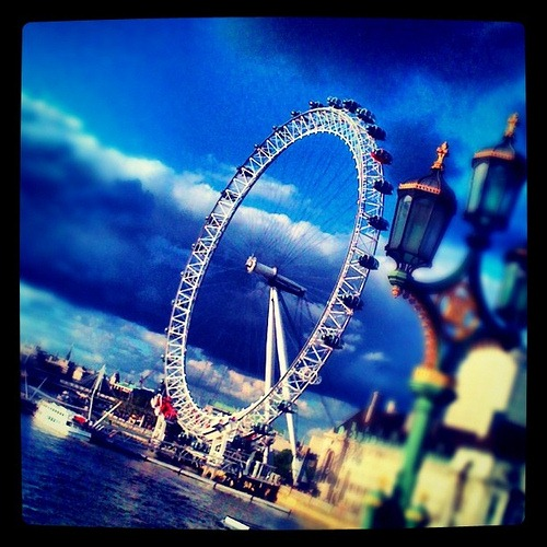 London Eye taken with Instagram