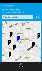 London Cycle Hire bike app