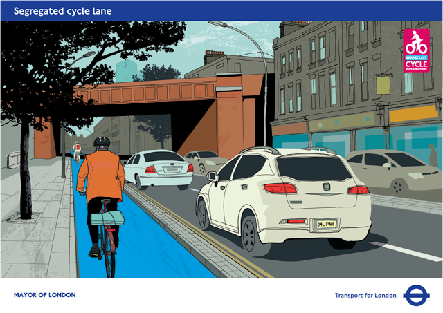 Cycle super highway Stratford via TfL