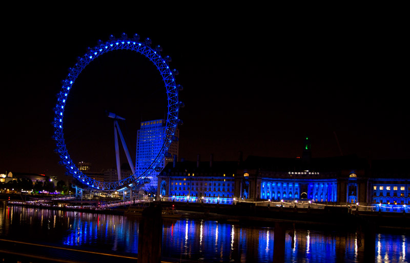 London landmarks lit up